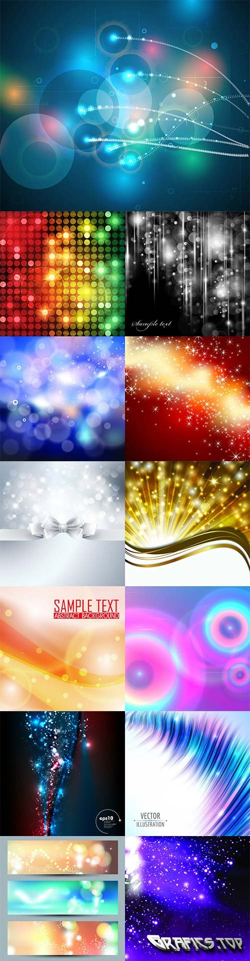 Vector bokeh colorful backgrounds - 8