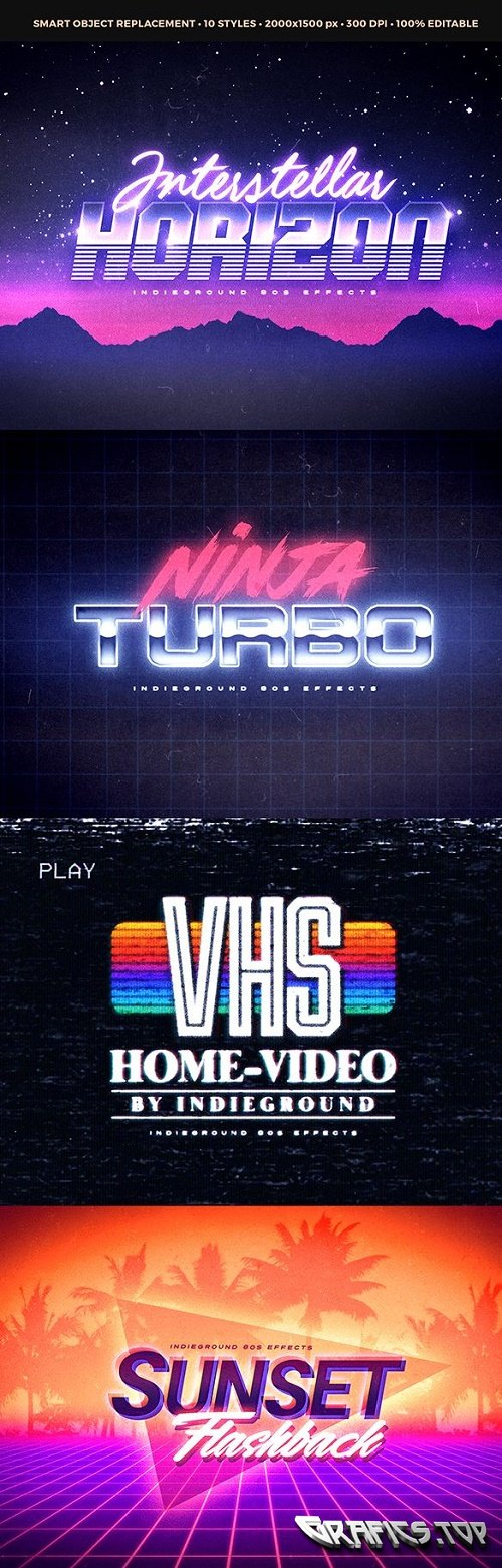 80s Text Effects - 19619387