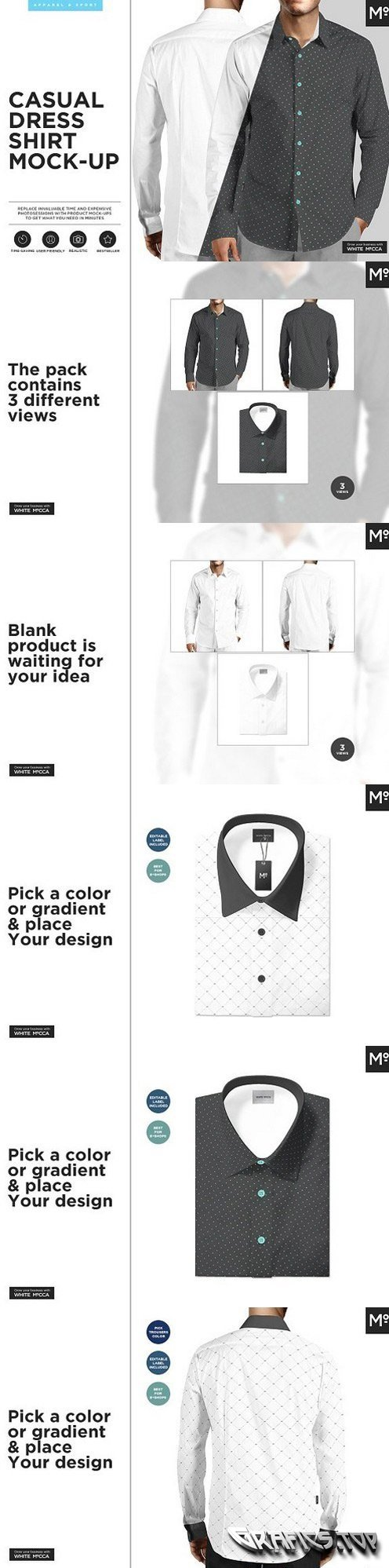 Casual Dress Shirt Mock-up 1470862