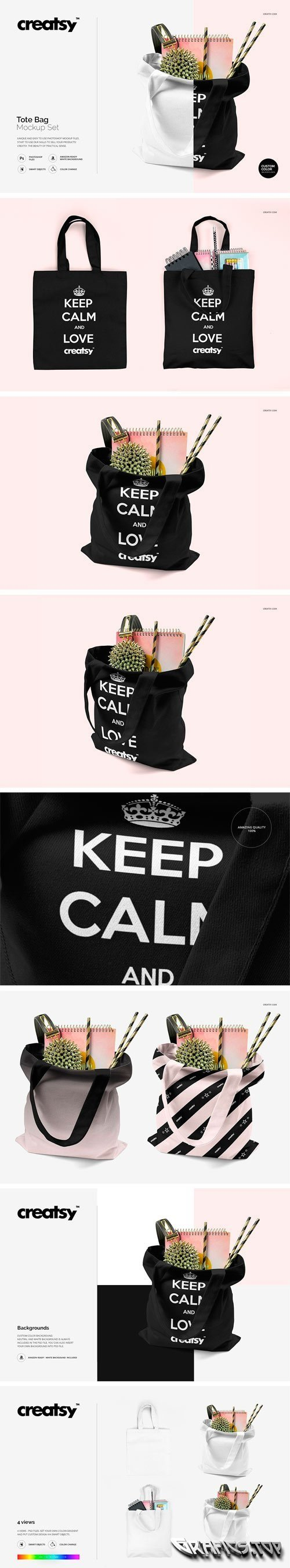 Tote Bag Mockup Set - 1559630