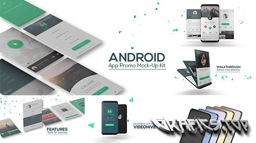 Android App Promo Mock-Up Kit - Project for After Effects (Videohive)