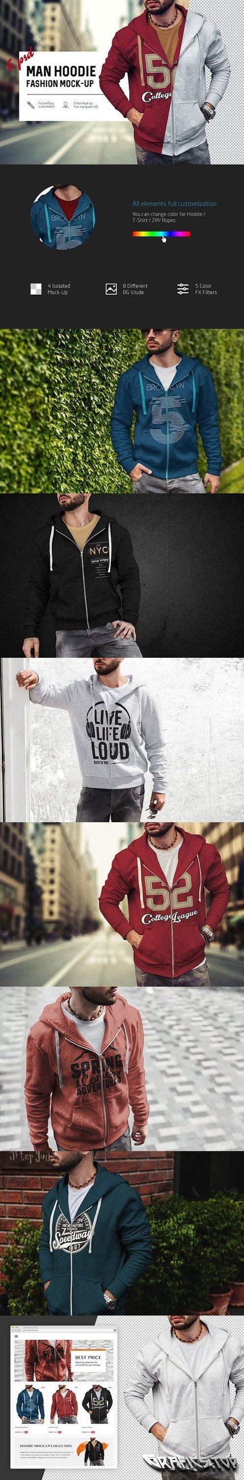 Man Hoodie Fashion Mock-Up 1674596