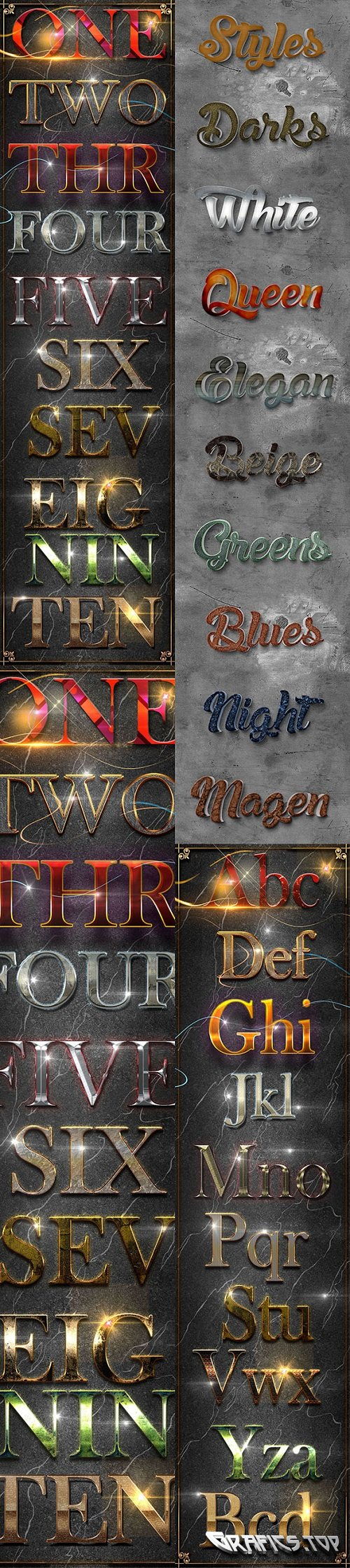 30 Bundle 3D Text Styles D35-D37 - 21052493