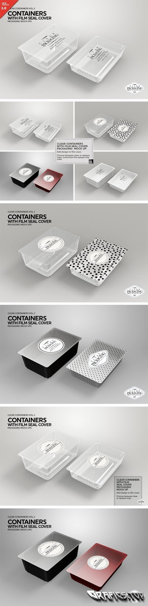 Clear Film Seal Container MockUp 2022766