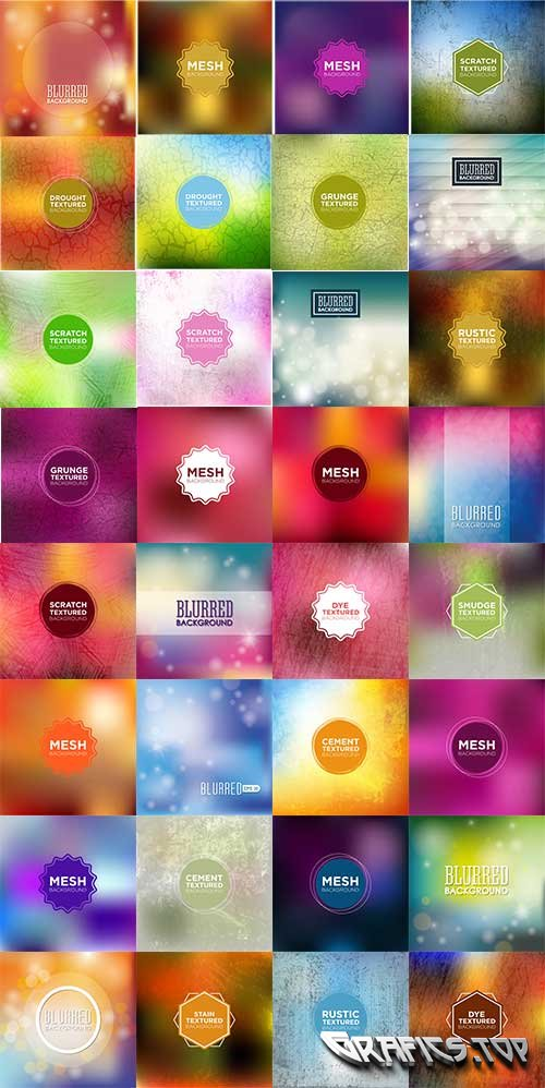 Colorful abstract backgrounds - vector