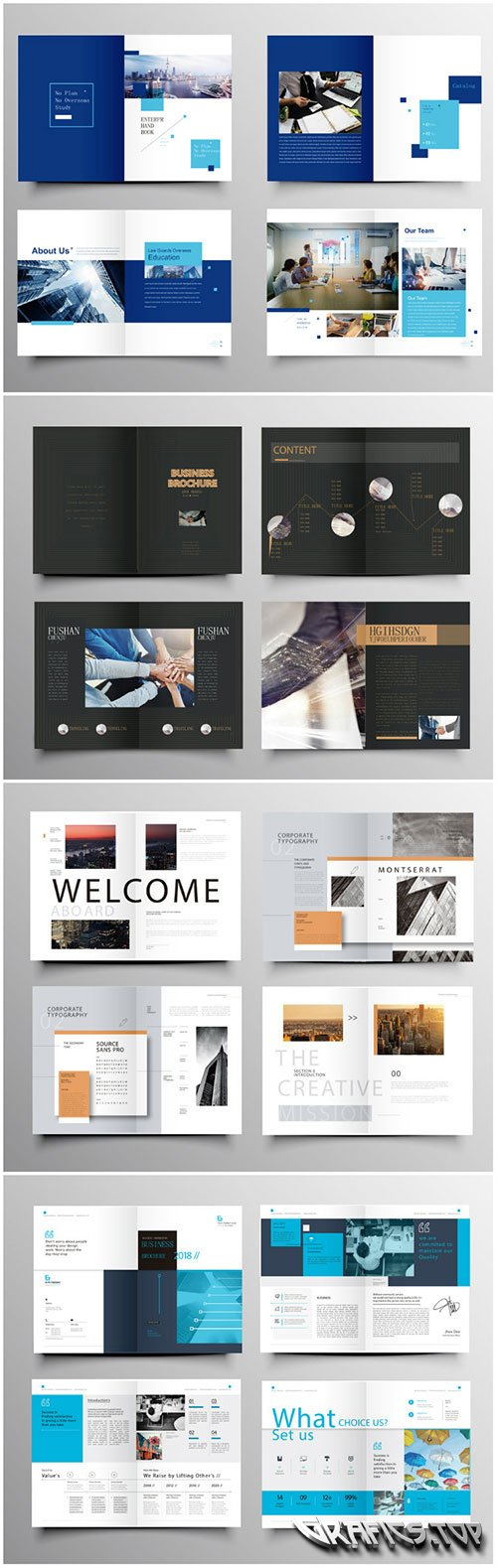 Brochure template vector layout design, corporate business annual report, magazine, flyer mockup # 235