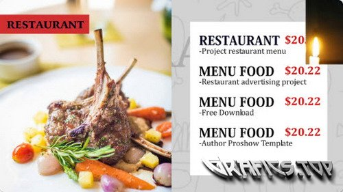 Project for Proshow Producer - Restaurant Menu