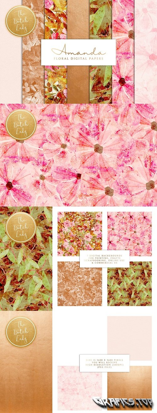 Floral Backgrounds & Paper - Amanda - 3608573