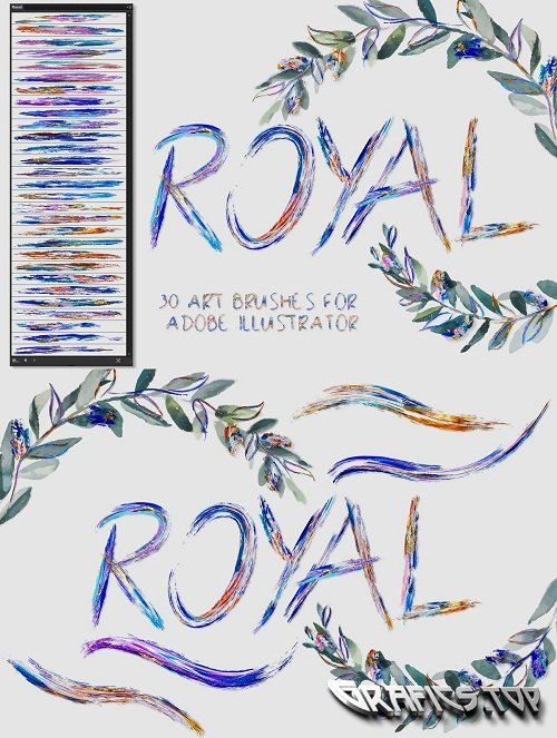 Royal Brushes for Illustrator - 3598375