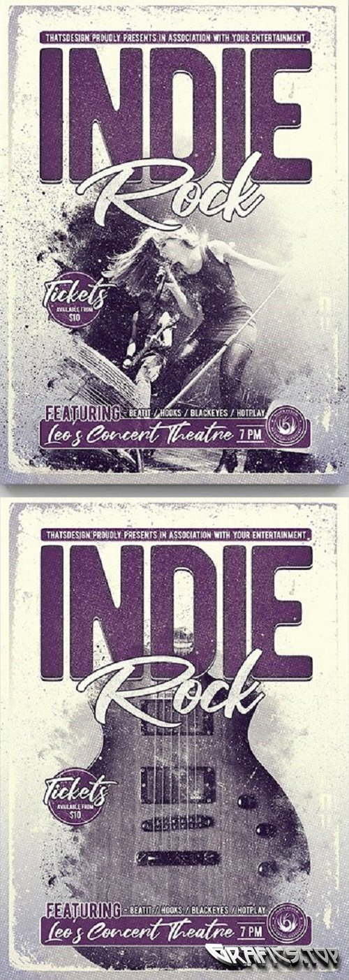 Indie Rock Flyer Template V3 - 3722062
