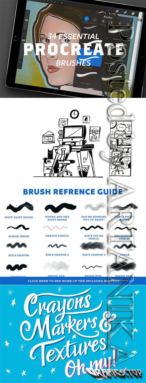 CreativeMarket - Essential Cartoon Brush Pack 1138108