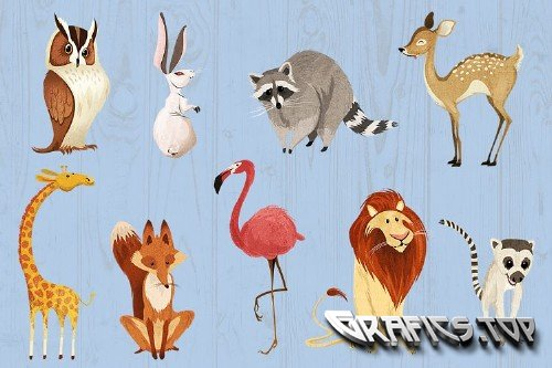 Wild Animals Critter Friends Clipart - 167311