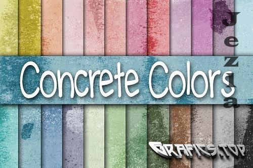 Colorful Concrete Wall Textures Digital Paper  - 37278