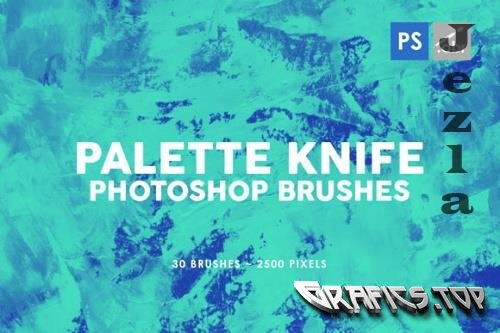 30 Palette Knife Photoshop Stamp Brushes 3