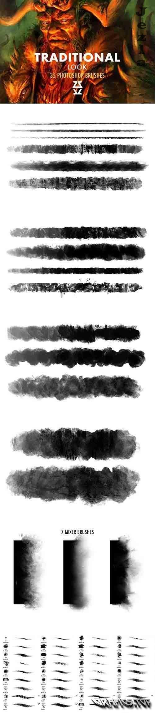 CreativeMarket - Traditional Look Brush Set 5907463
